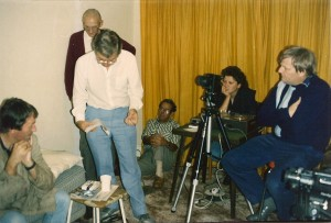 "Filming ""Night Encounter"""